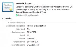 certificaat website controleren